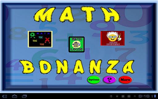 Math game bonanza