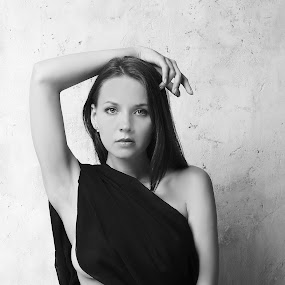 black dress by Carl0s Dennis - People Portraits of Women ( studio, woman, black dress, portrait, b&w, person,  )