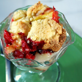 Pear and Cranberry Cobbler