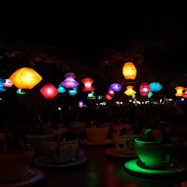 Tea pot party at DisneyLand by Rishika Korada - City,  Street & Park  Amusement Parks