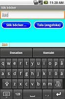 Screenshot of Svenskt tangentbord