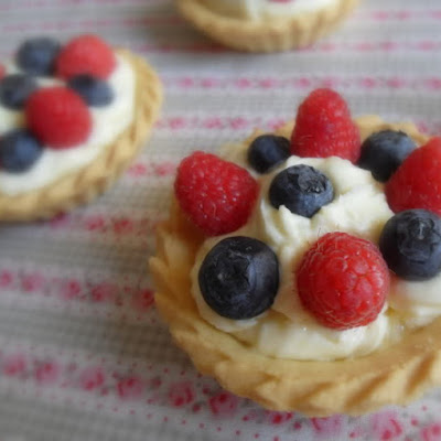Simple Summer Berry and Lemon Tartlets