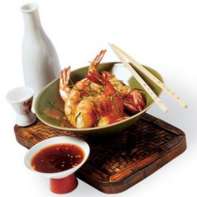 Crunchy Salt Shrimp with Ginger Sauce