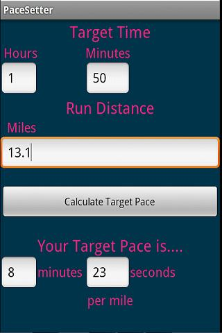 PaceSetter - Pace Calculator