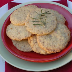 Crispy Citrus Rosemary Cookies