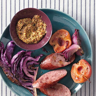 Roasted Kielbasa with Apples and Cabbage