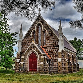church Learmonth by Feona Green-Puttock - Buildings & Architecture Places of Worship ( building, church, bluestone, rocks, granite,  )