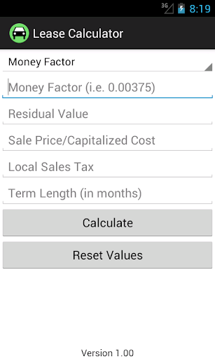 Lease Calculator