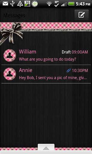 GO SMS - Brown N Pink Plaid