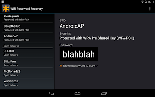 Screenshot of WiFi Password Recovery Pro