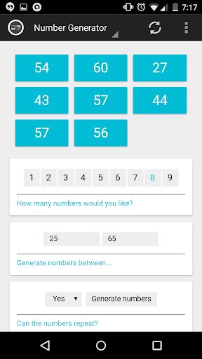 Lottery Numbers Generator Pro - screenshot