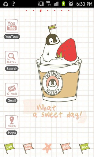 Pepe-cupcake GO Launcher theme