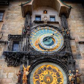 The Prague astronomical clock by Kaj Andersson - Artistic Objects Other Objects ( astronomical clock, old town, praha, prague )