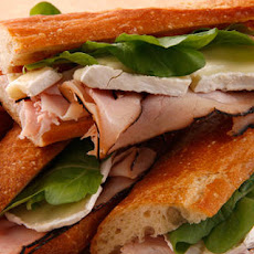 Ham and Camembert Baguette Sandwich