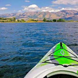 Kayaking on Lake by Tyrell Heaton - Instagram & Mobile iPhone ( lake, iphone, kayaking )