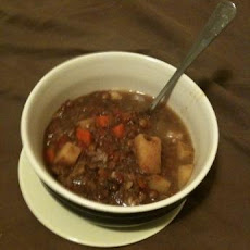 Crock Pot Beef Lentil Soup