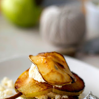Ricotta & Caramelised Pear With Poppy Seed Yogurt