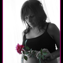 The Purest Love.  by Min Gourlie - People Maternity ( love, rose, mother, beautiful, pregnant )
