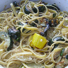 Grilled Summer Squash With Fettuccine