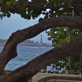 Faro by Lidia Noemi - City,  Street & Park  Vistas ( malecon, santo domingo, puerto, mar, faro,  )