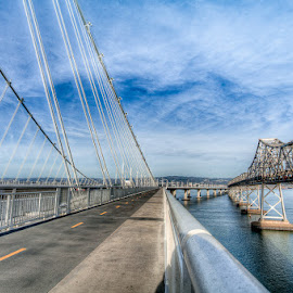 Old andNew Baybridge by Julio Gonzalez - Buildings & Architecture Bridges & Suspended Structures