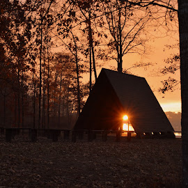 Sunset at Hood by Terry Hairston - Buildings & Architecture Places of Worship (  )