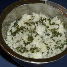 Mashed Potatoes with Kale and Leeks