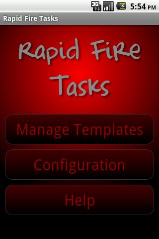 Rapid Fire Tasks
