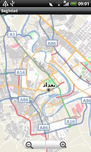 Baghdad Street Map