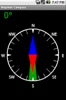 Screenshot of MapNav Compass