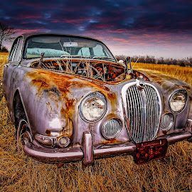 Oklahoma Jag Sunset by Ron Meyers - Transportation Automobiles ( sx200 2010 pics )