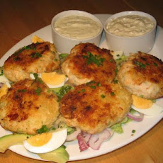 Cod Patties With Two Dipping Sauces