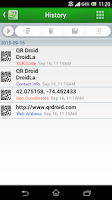 Screenshot of QR Droid