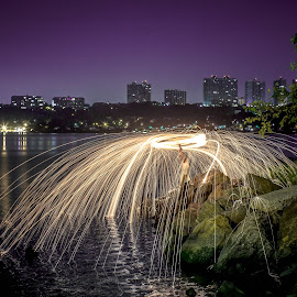 Force field !! by Leroy Kimbrough - Abstract Light Painting ( canonfanboy, 60d, night, long exposure, new york, canon eos, harlem )