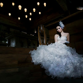 Waiting for You by Amin Basyir Supatra - Wedding Bride ( love, bali, prewedding, wedding, gown, beauty )