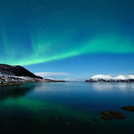 Northern lights by Marius Birkeland - Landscapes Waterscapes ( reflection, sky, aurora borealis, northern lights, arctic,  )