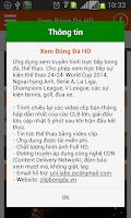 Screenshot of Xem Bong Da HD