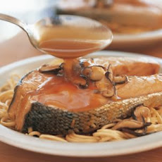 Braised Salmon and Shiitakes