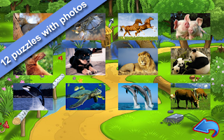 Screenshot of Animal Puzzles for kids free