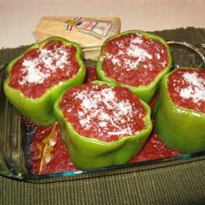 Stuffed Peppers with Creole Sauce