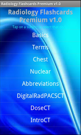 Radiology Flashcards Premium