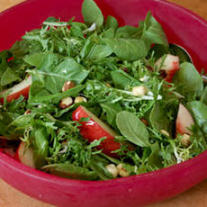 Baby Arugula Salad with Nectarines and Toasted Hazelnuts Recipe