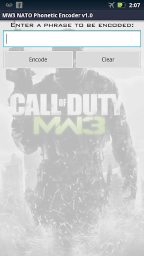 【免費娛樂App】MW3 NATO Phonetic Encoder-APP點子