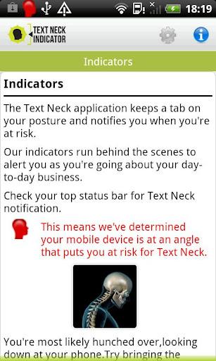 【免費健康App】Text Neck Indicator LITE-APP點子