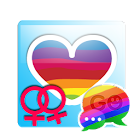 GO SMS Rainbow Theme Free icon