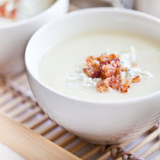Creamy Cauliflower Soup with Bacon and Gorgonzola Recipe