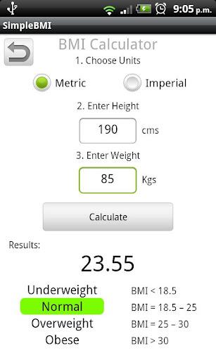 玩健康App|Simple BMI Calculator免費|APP試玩