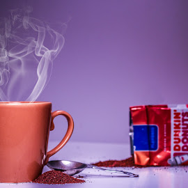 Coffee by Mason Bletscher - Food & Drink Alcohol & Drinks ( cup, mug, dunkin donuts, coffee beans, beans, coffee, drink, coffee cup, smoke, starbucks, steam )