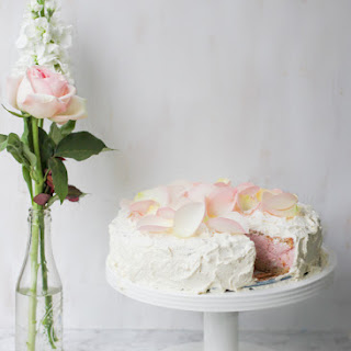 Strawberry Mousse Cloud Layer Cake