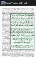 Screenshot of Surah Yaseen with mp3